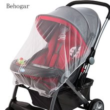 Behogar 150CM Universal Insect Mosquito Bug Safe Mesh Net Full Cover for Baby Prams Strollers Bassinets Cradles Buggy Pushchairs(China)