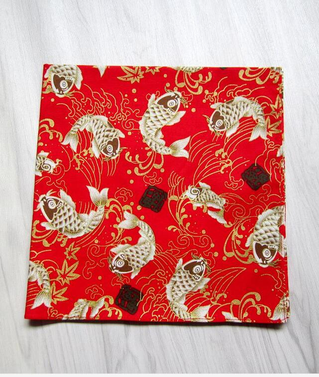 Japanese Handkerchief 47*47cm Cyprinidae Pure Cotton Handkerchief Women
