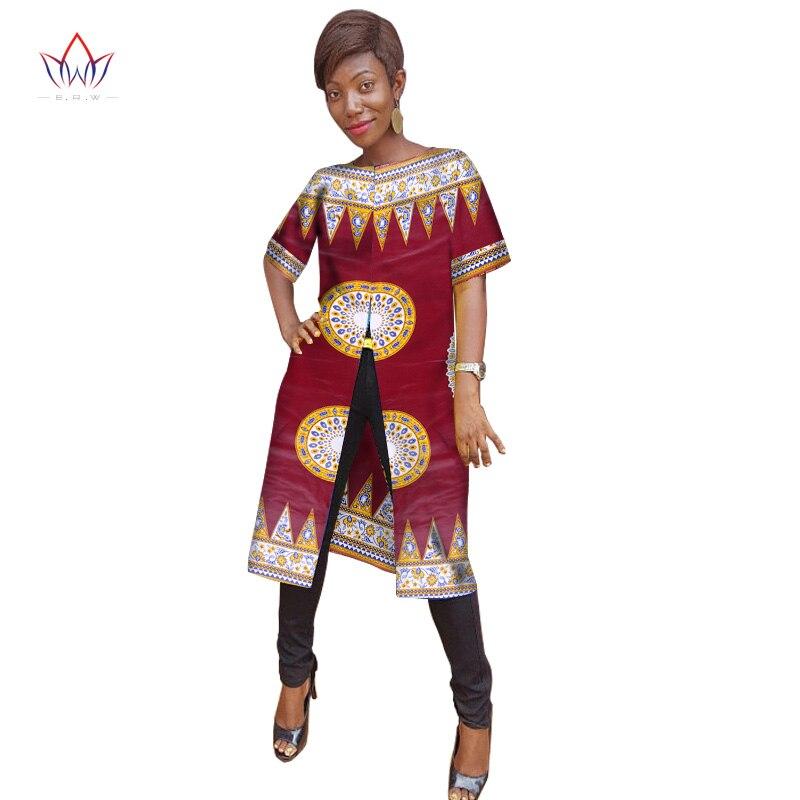 Ankara femmes vêtements traditionnels africains t-shirts mode hauts Dashiki afrique imprimer chemise de grande taille M-6XL femmes vêtements WY985