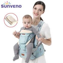 SUNVENO Ergonomic Baby Carrier Infant Baby Hipseat Waist Carrier Front Facing Ergonomic Kangaroo Sling for Baby Travel 0-36M