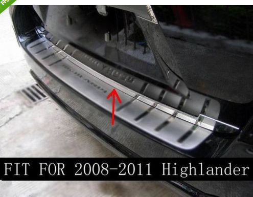 Chrome Rear Trunk Lid Cover Trim for TOYOTA HIGHLANDER 2009 2010 2011 2012 2013 car auto accessories rear trunk molding lid cover trim rear trunk trim for nissan sunny versa 2011 abs chrome 1pc per set