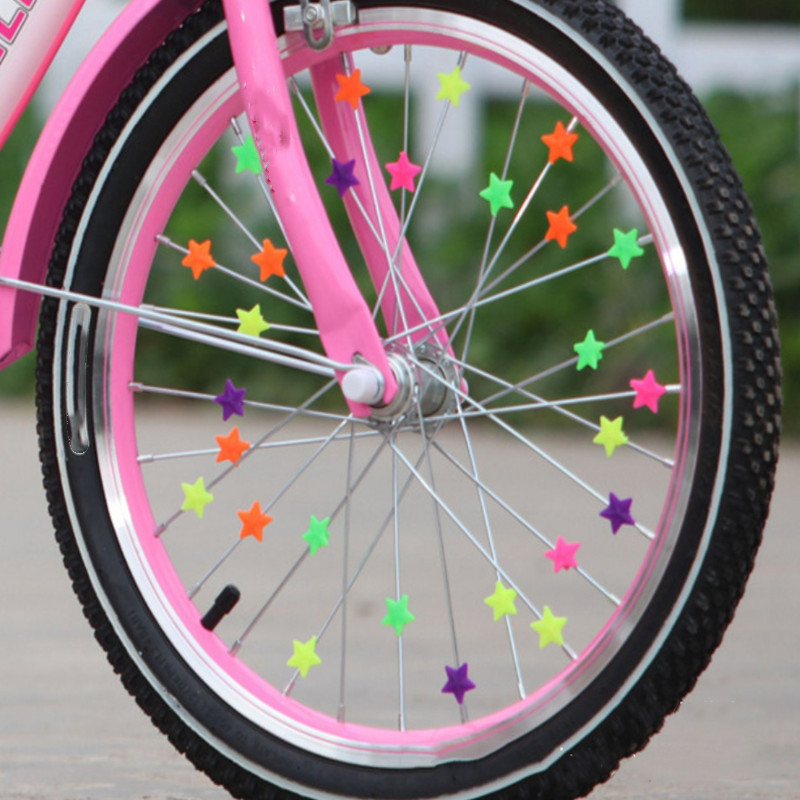 36pcs/lot Bicycle Wheel Spoke Colorful Plastic Bead Multi Color Children Clip Decoration Baby Bike Kid Cycling Accessories