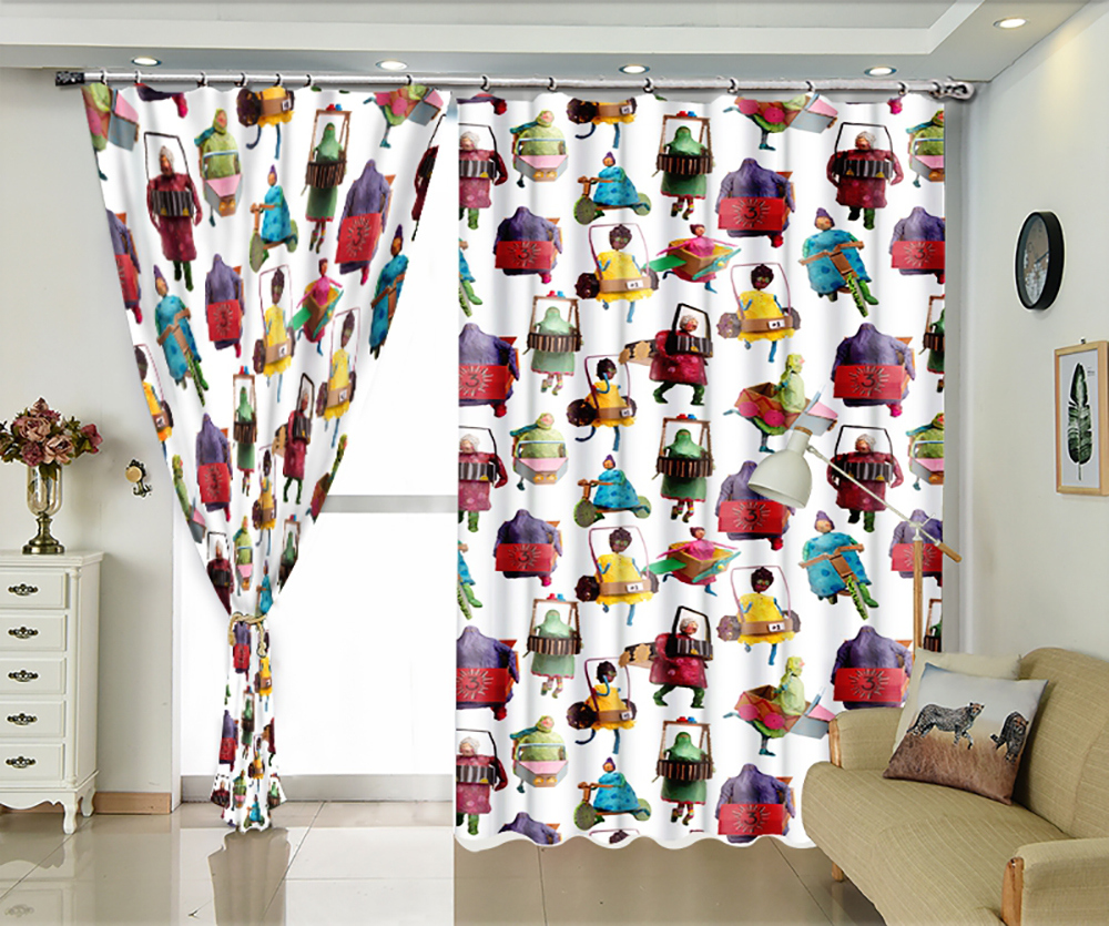 Cartoon villain custom window shade