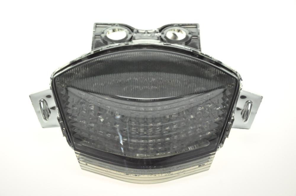 Светодиодный Встроенный задний фонарь поворотник для KAWASAKI NINJA 650R 06-07/ER-6 06-08 - Цвет: Темно-серый