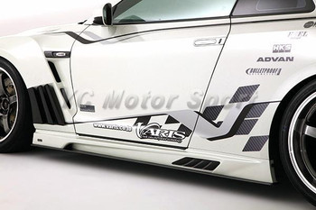 Car Accessories Carbon Fiber VS '13 Ver. Style Side Skirt with Underboard Fit For 2008-2014 R35 GTR CBA DBA Side Skirts