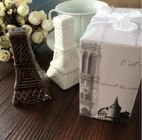 2015 New Arrivals Romantic Effiel Tower Salt Pepper Shaker In Gift Box Wedding Baby Shower Favor