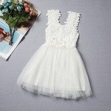 2016 filles de dentelle d'été robe fée enfants princesse robe pour le mariage fleur fille robe robe infantil filles partie robes