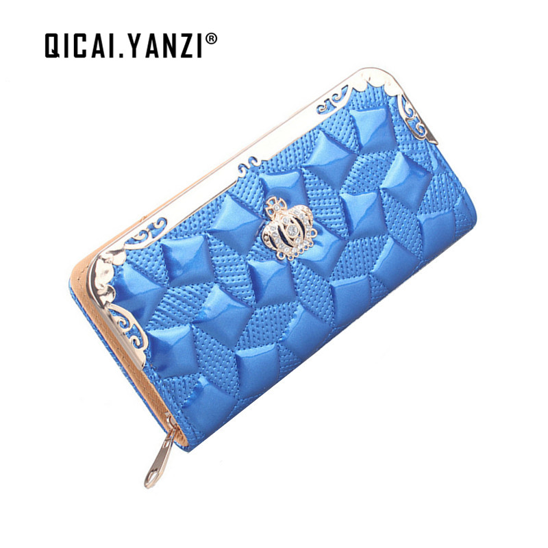 QICAI.YANZI 2017 Women Wallet Fashion Lady's Purse Clutch Leather Long Handbag Wallets Card Holder Coin Gift Free Shipping N870 босова л информатика и икт раб тетр для 7 кл