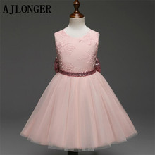 AJLONGER Girl Fashion Dress Summer Clothes Baby Wedding Veil Dresses Kids Party Wear Costume For Children Clothing