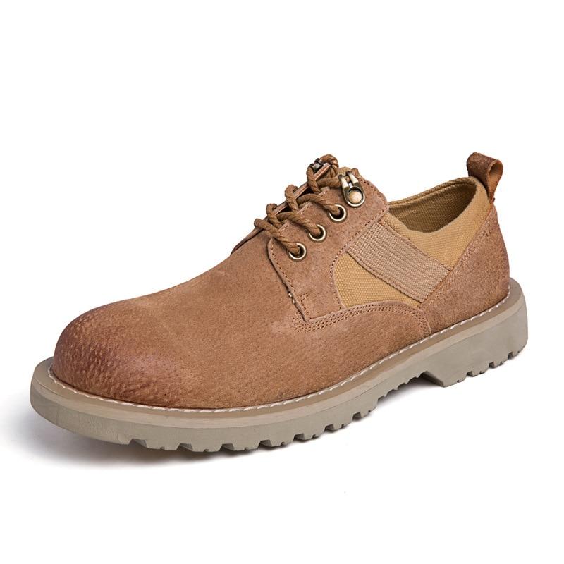 Cuir En Backcamel Automne Tailles Non 38 Bottes Des Décontractées De Respirant Hommes slip Sortie gray Rétro Chaussures 44 brown Black DEIWH92