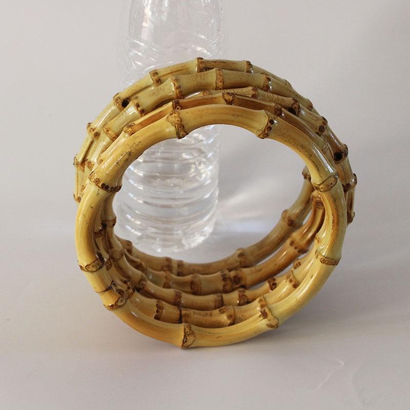10 pcs Lot 15 CM Nature O Shape Bamboo Purse Frame Handle Hanger O Bag Accessories Asas Para Bolso Ratten Cane Bamboo Bag Handle