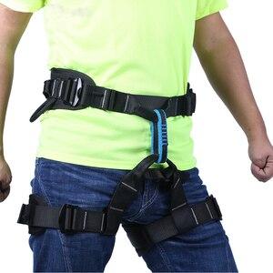 Image 4 - XINDA קמפינג חיצוני טיולים רוק טיפוס לרתום חצי גוף תמיכת מותניים בטיחות חגורת נשים גברים מדריך לרתום אווירי ציוד