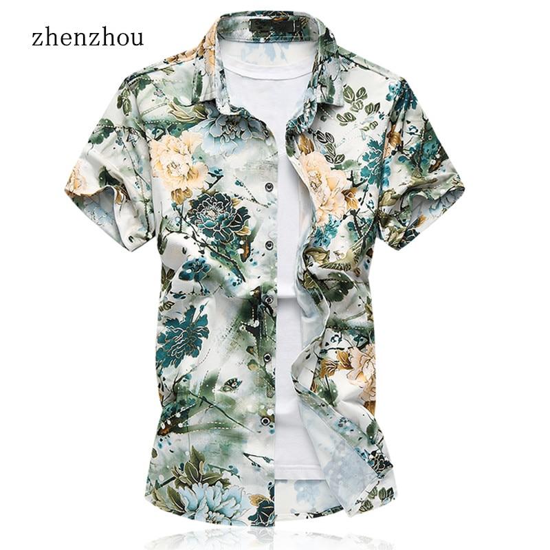 Këmisha të shkurtra me mëngë të shkurtra ZhenZhou Floral Plus - Veshje për meshkuj - Foto 1