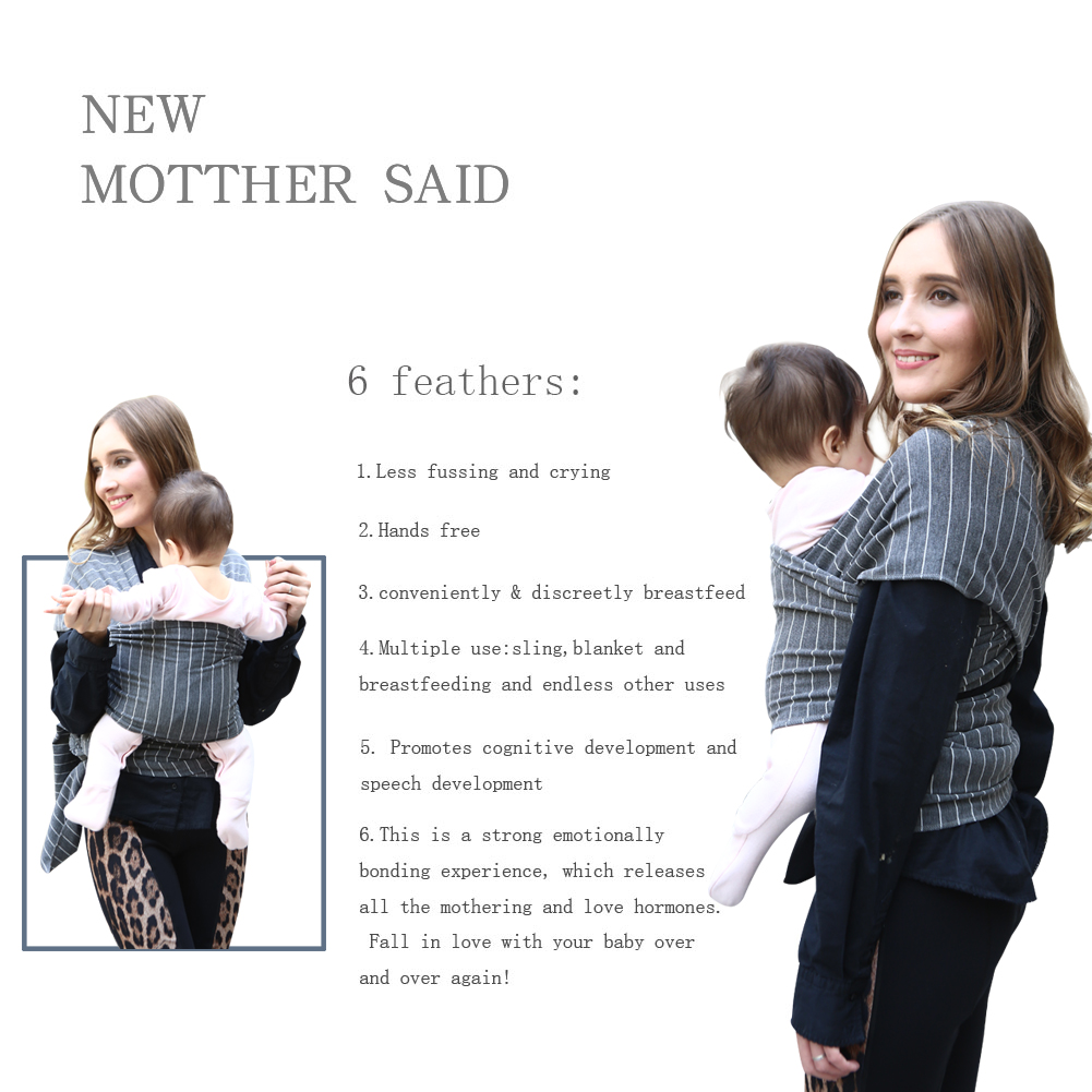 100% naturalnej bawełny Pielęgnacja chusta do noszenia dzieci - Aktywność i sprzęt dla dzieci - Zdjęcie 5