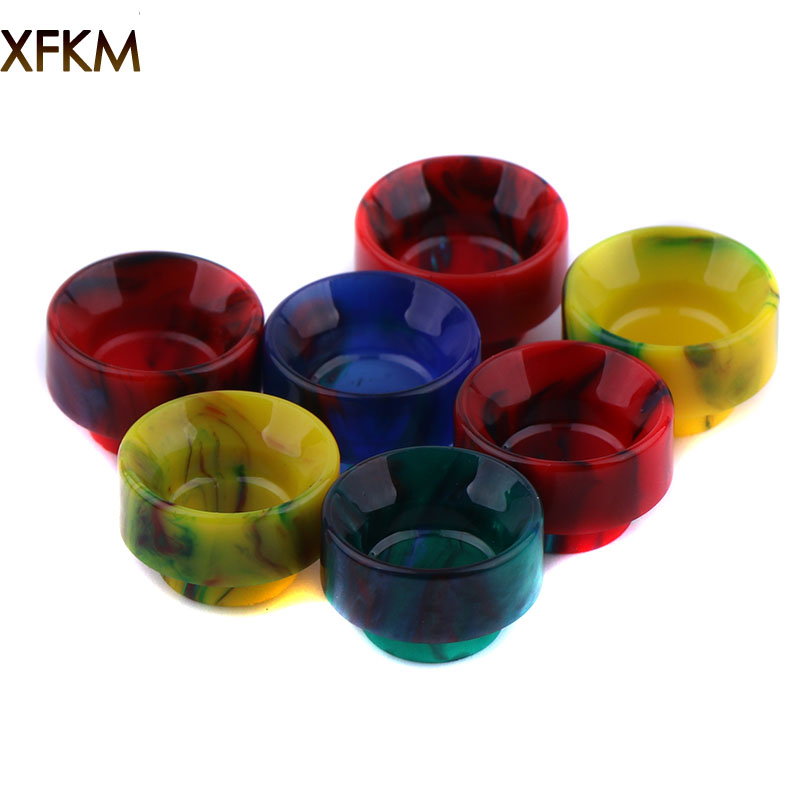 NEW XFKM 810 Drip Tips Epoxy Resin Drip Tip Wide Bore Mouthpiece For Kennedy 24 Battle Goon V1.5 528-C RDA Atomizers 1pcs Retail