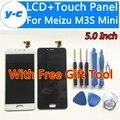 Для Meizu M3S mini жк-Дисплей + Сенсорный Экран Высокого Качества Дигитайзер Ассамблеи Замена панели Экрана Для Meizu M3S mini 5.0 дюймов