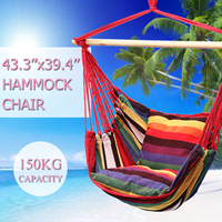 Outdoor Indoor Hammock Chair with 2 Pillows Cradle Chair Comfortable Household Hammock Chair Dormitory Swinging Hanging Chair
