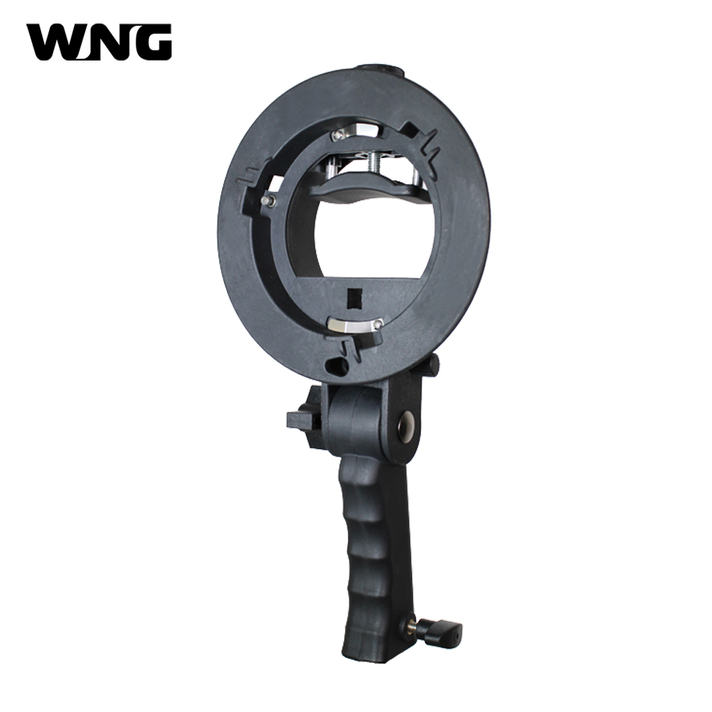Hand-held S-Type Flash Bracket Bowen Mount Holder Bracket Mount for Speedlite Flash Softbox Snoot Umbrella Flash Accessories