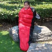 Autumn and winter outdoor single stitching sleeping bag ultra light thick AT6102
