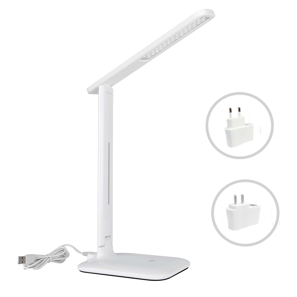 NEW LED Eye Protect Table Lamp Stepless Dimmable Foldable Office Desk Light Touch Sensor Control 7W Read Study Lamp USB Powered