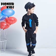 Pioneer Kids 2016 New boys clothing sets sports tracksuits clothes for boy autumn sets 2pcs knitting long sweatshirt+ pant trunk
