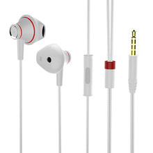 Phone Earphone In Ear Noise Cancelling Super Bass MP3 Music Metal HiFi Earbuds with Microphone for Xiomi Mi Plus Free Shipping