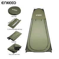 Enkeeo Portable Outdoor Pop Up Tent Camping Shower Bathroom Privacy Toilet Changing Room Shelter Single Moving