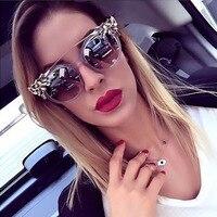 Beyond Star Fashion Luxury Girls Women Sunglasses Crystal Diamond Decoration Cat Eye Sun Glasses Women Men