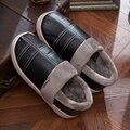 2016 Nueva Llegada de La Moda de Invierno Cálido Zapatillas de Casa Las Mujeres y Los Hombres algodón Zapatos Caseros de la Felpa Caliente de la Felpa de Los Hombres Zapatillas Hombres Zapatos de Marca