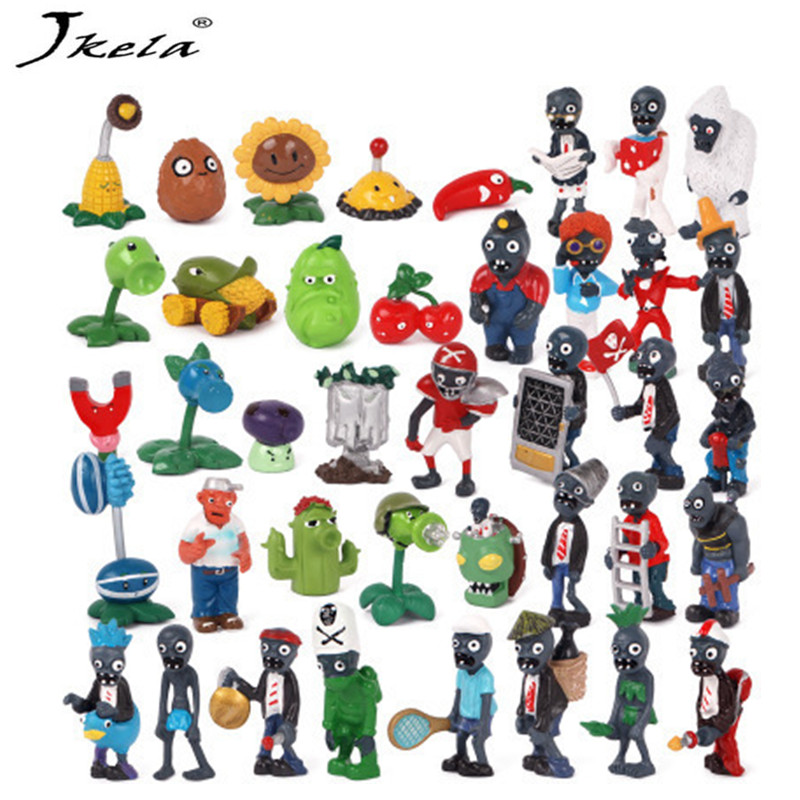 все цены на [New] 160pcs Plants vs Zombies Figures Toys PVZ Plants and Zombies PVC Action Figure Collection Model Toy Doll for Gifts