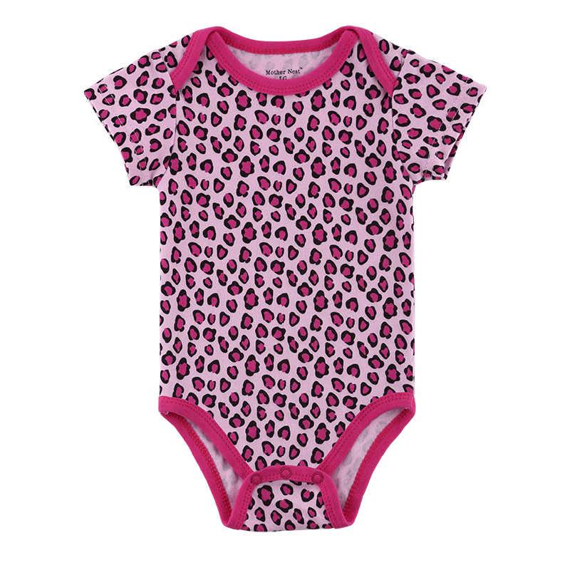 2018 летний детский комбинезон, Леопардовый красный цвет, Одежда для младенцев, комбинезон для новорожденных, костюм для маленьких мальчиков и девочек