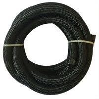 ESPEEDER 12 AN 5 Meter Cotton Over Black Braided Oil Hose Pipe Light Weight Hose End Adapter Nylon Fuel Tubing Hose Line