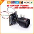 Vari-2.5MP Focal Da Lente de 2.8mm-12mm 3X Zoom Mini Câmera IP 1.0/1.3 Megapixel 720 P/960 P IP Câmera de Vigilância CCTV ONVIF P2P