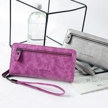 Vintage PU Leather Women Long wallet
