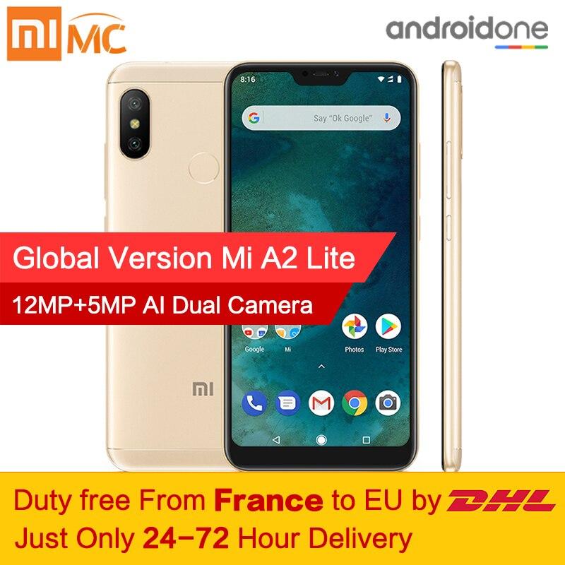 Livre de impostos! versão Global Xiao mi mi A2 Lite 3 gb 32 gb Smartphones Snapdragon 625 Núcleo octa 5.84 Tela Cheia android 8.1 Dual Camera