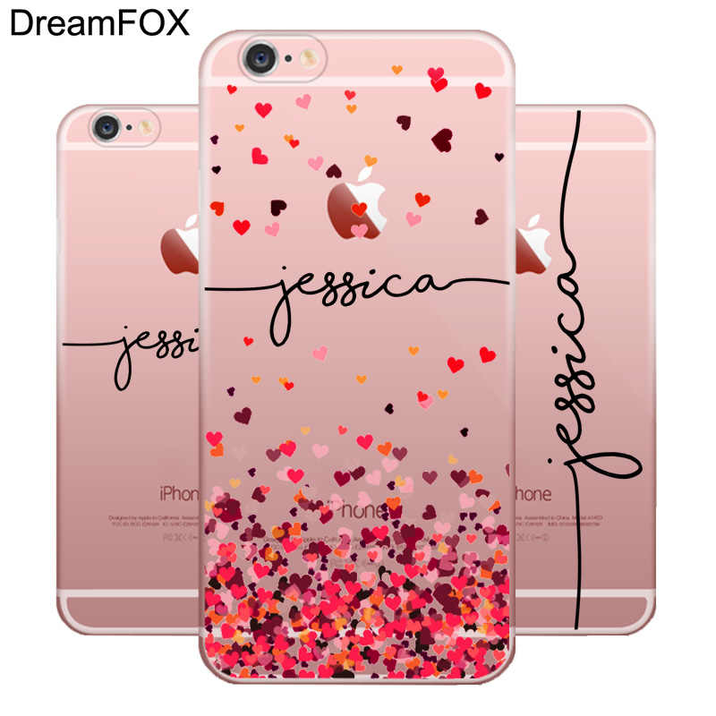 DIY Name Custom Design Print Case Cover For iPhone 11 Pro XS XR Max 4 4s 5c 5 5s SE 6 6s 7 8 Plus X Flower Customized