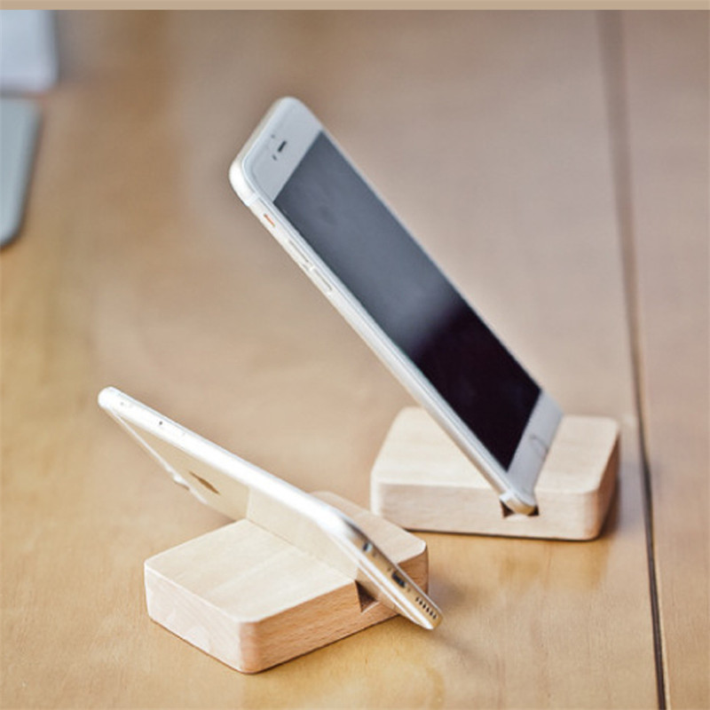 Mini Wood Stand for iPhone 6S Samsung S6 Sony Xiaomi Huawei Desk
