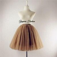 2014 Design White Knee Length Gauze Tulle Skirt Balley Pincess TUTU Skirt Wedding Skirt Jupe Falda