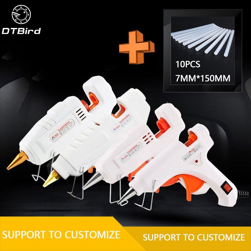 20 W-105 W DIY caliente ajustable templadas pegamento 7mm adhesivo Industrial Eléctrica de silicona armas Thermo reparación de herramientas de calor