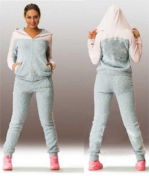 1dcf1a0b047 Женский спортивный костюм спортивная одежда высокого качества комплект из  двух предметов толстовки спортивный костюм комплект спортивной
