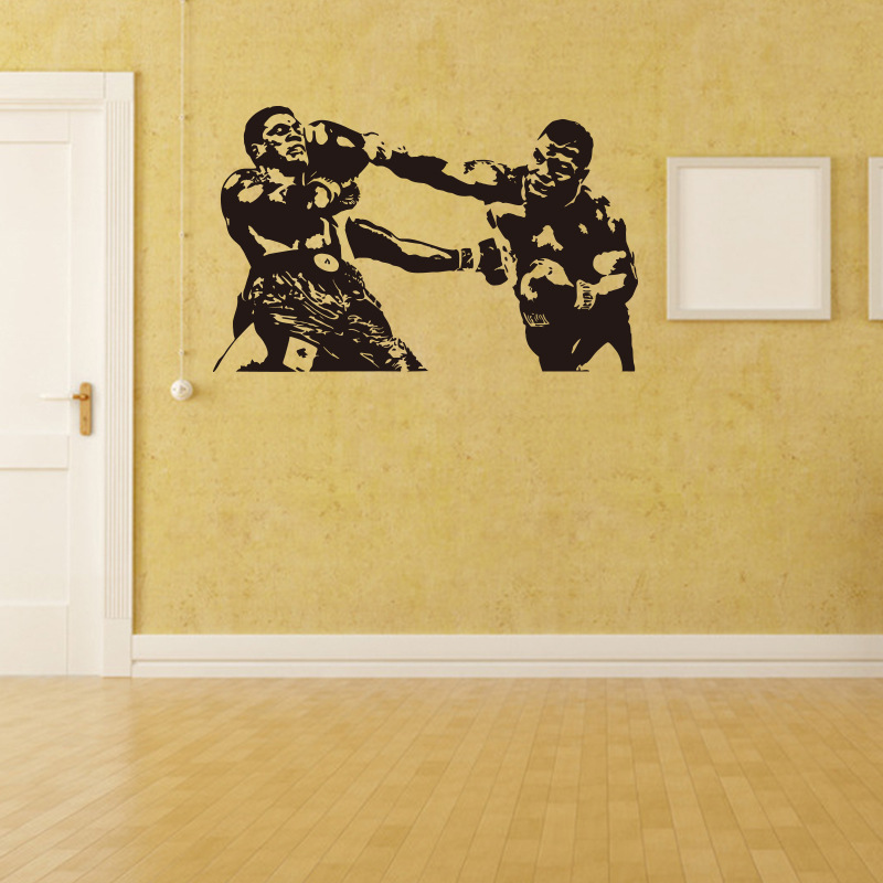 Sports Thai Boxing Tyson vinyl wall decal home decor living room art ...