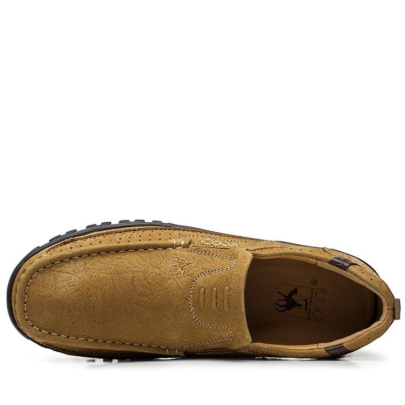 Véritable Nouvelle Mode Cuir Hommes Chaussures kaki En Aa20518 Richelieus Green Conduite Respirant Appartements De Printemps Casual Automne Army 1YqIFwS