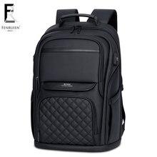FRN деловой мужской рюкзак черный usb зарядка Противоугонный рюкзак для ноутбука 15,6 дюймов мужской большой емкости модные рюкзаки для путешествий