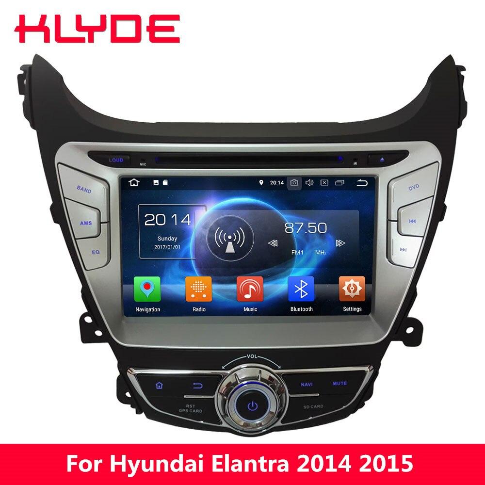 KLYDE 8 Octa Core 4GB RAM 32GB ROM Android 8.0 7.1 Car DVD Multimedia Player Radio Stereo GPS For Hyundai Elantra I35 2014 2015 android 8 0 octa core 4gb ram 32gb rom car dvd radio multimedia stereo player 1024 600 gps navigation for kia sportage 2010 2012