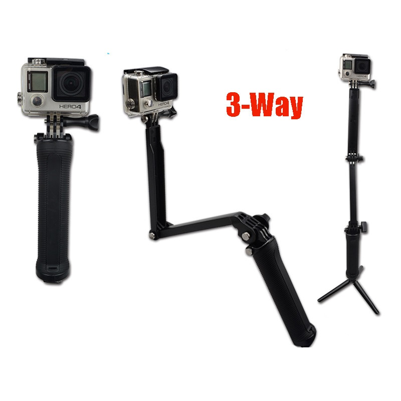 with Wrist Strap and Screw and Action Camera MaximalPower 19 Waterproof Hand Grip Monopod Selfie Stick Light Weight Adjustable Extension for GoPro HD Hero 6 5 4 3 3 2 1