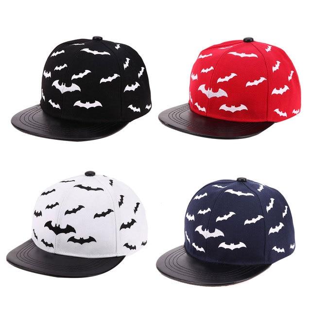 d6c08dc956f99 Bat Baby Hat Summer Baseball Cap Children Boys Girls Snapback Cap Kids  Hiphop Hats Black Red