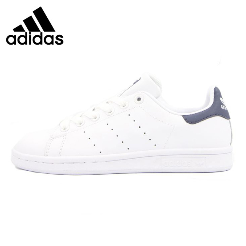 Adidas STAN SMITH Men's and Women's Walking Shoes, White & Black, Lightweight Breathable Non-slip Wear Resistant M20325 adidas clover gazelle men s and women s walking shoes pink breathable wear resistant lightweight non slip bb5264