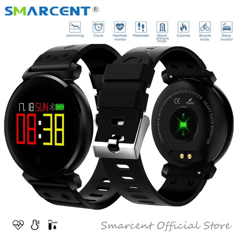 K6 IP68 Étanche Coloré OLED Smart Bande Coeur de La Pression Artérielle Moniteur de Fréquence Montre Smart Watch Bracelet en oxygène du Sang Bracelet