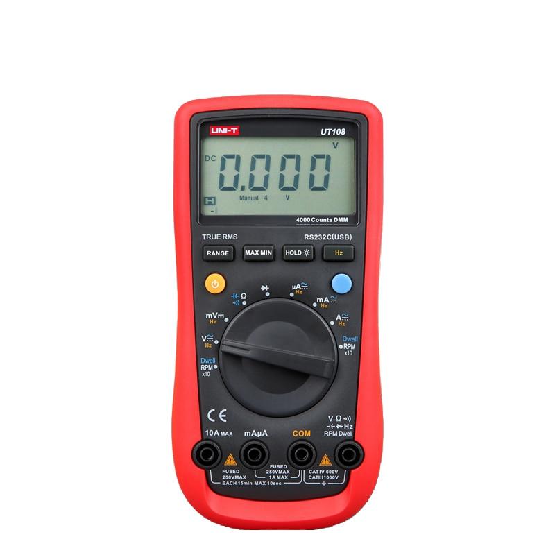 High Quality UNI-T UT108 Electrical Digital Multimeter Automotive Handheld Multi-Purpose Meters Ammeter Ohm Volt Universal China  цены