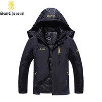 2016 Plus Size 9 Colors Waterproof Sport Winter Jacket Men Warm 2 In 1 Parkas Windproof